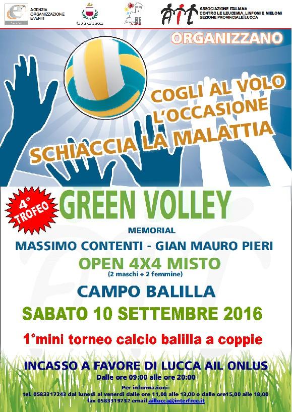 locandina green volley1